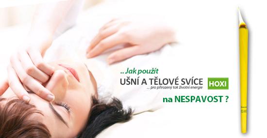 Aplikace tělových svící HOXI při nespavosti a při problémech s usínáním