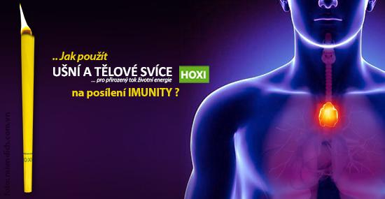 Aplikace tělové svíce HOXI na posílení imunity
