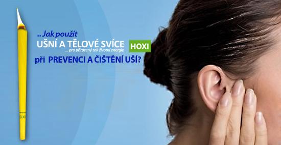 Aplikace ušních svící HOXI jako prevence a čištění ucha