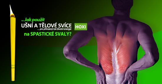 Aplikace tělových svící HOXI na spastické svaly