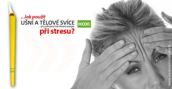 Aplikace tělové svíce HOXI na stres