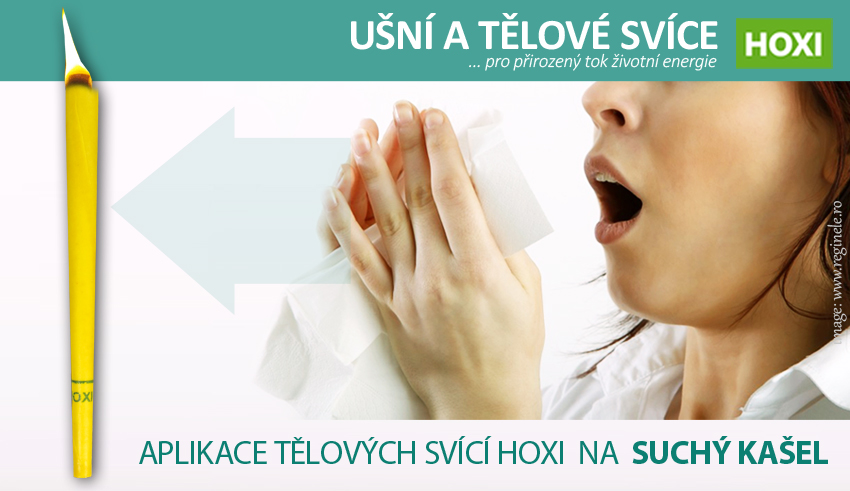 Aplikace tělových svící HOXI na suchý kašel