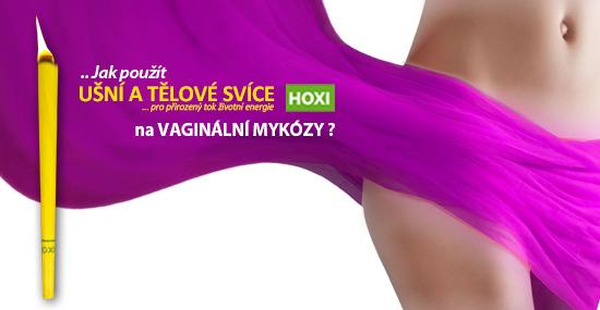 Aplikace tělové svíce HOXI na vaginální mykózy