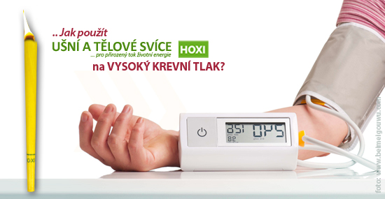 Aplikace tělových svíček na vysoký krevní tlak