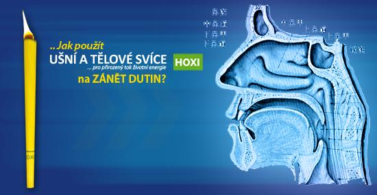 Aplikace ušních a tělových svící HOXI při zánětech dutin