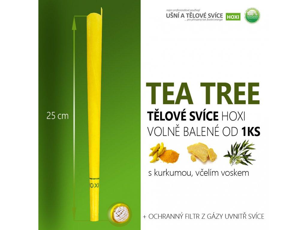 HOXI tělove svice TEA TREE ČAJOVNÍK . volně balené 01