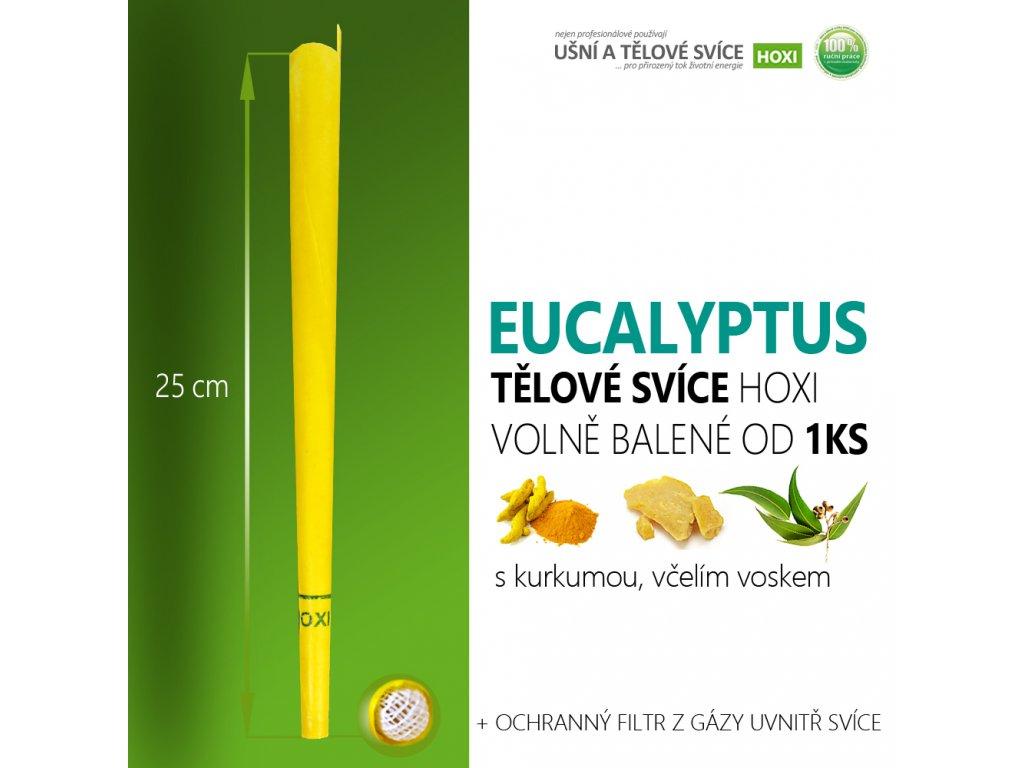 HOXI tělove svice EUCALYPTUS volně balené 01