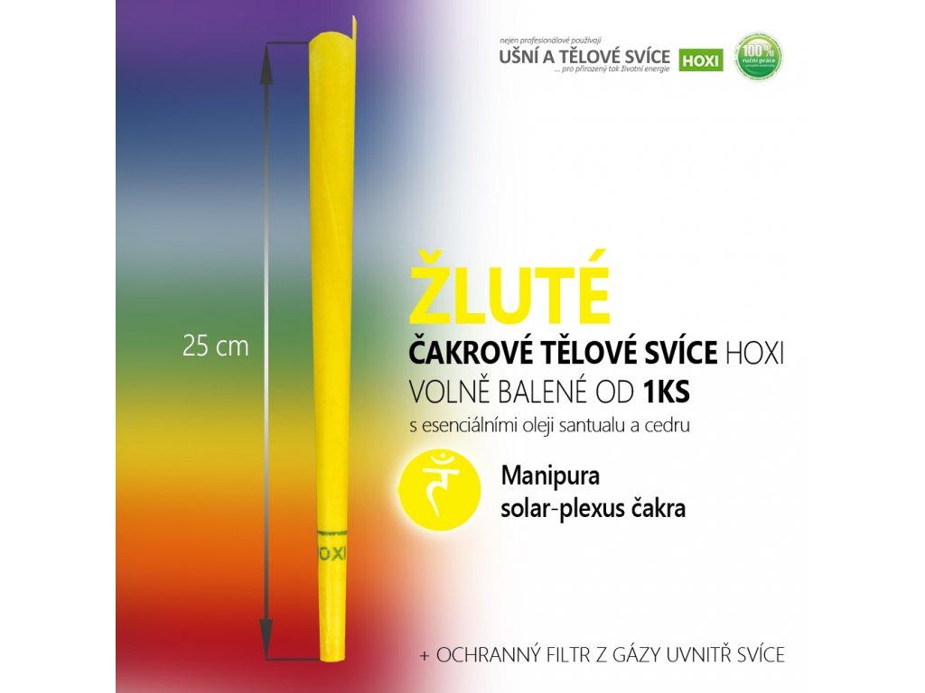 HOXI čakrove telove svice zluta solar plexus čakrová svíce 01