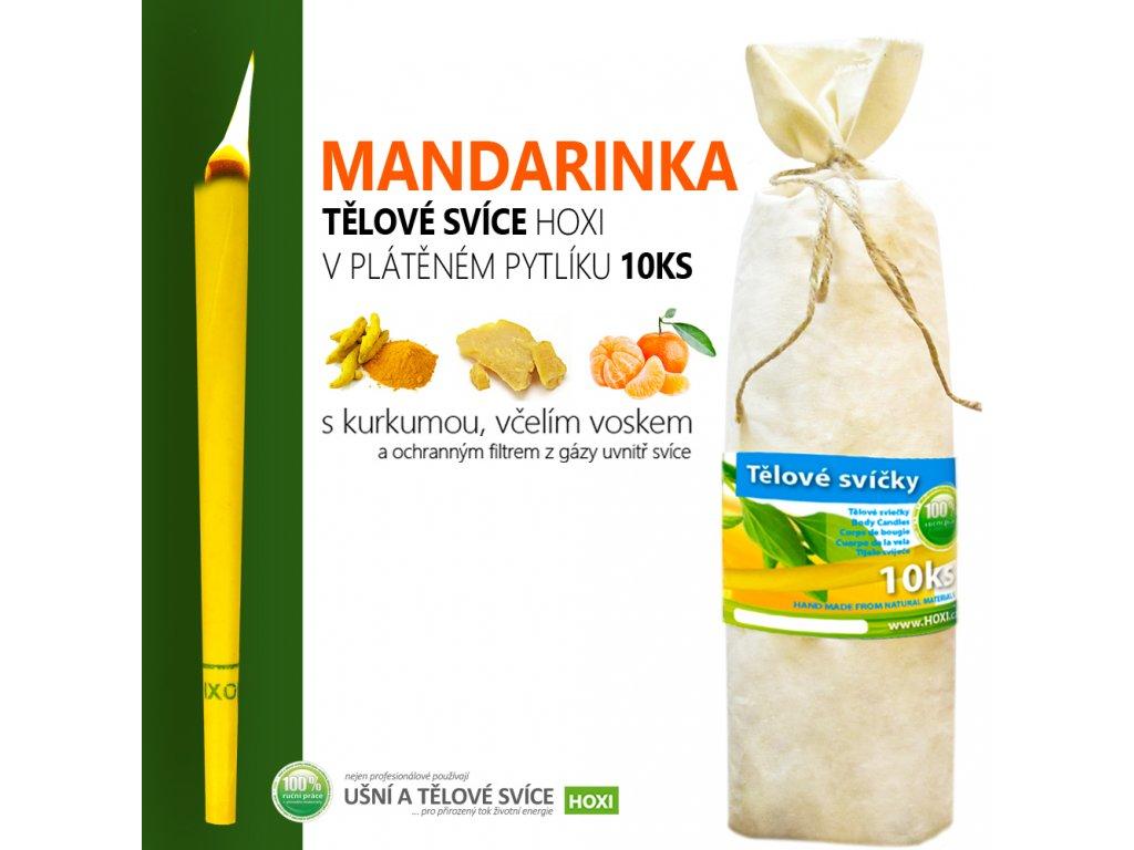 HOXI telove svice MANDARINKA v platenem pytliku 10ks 002