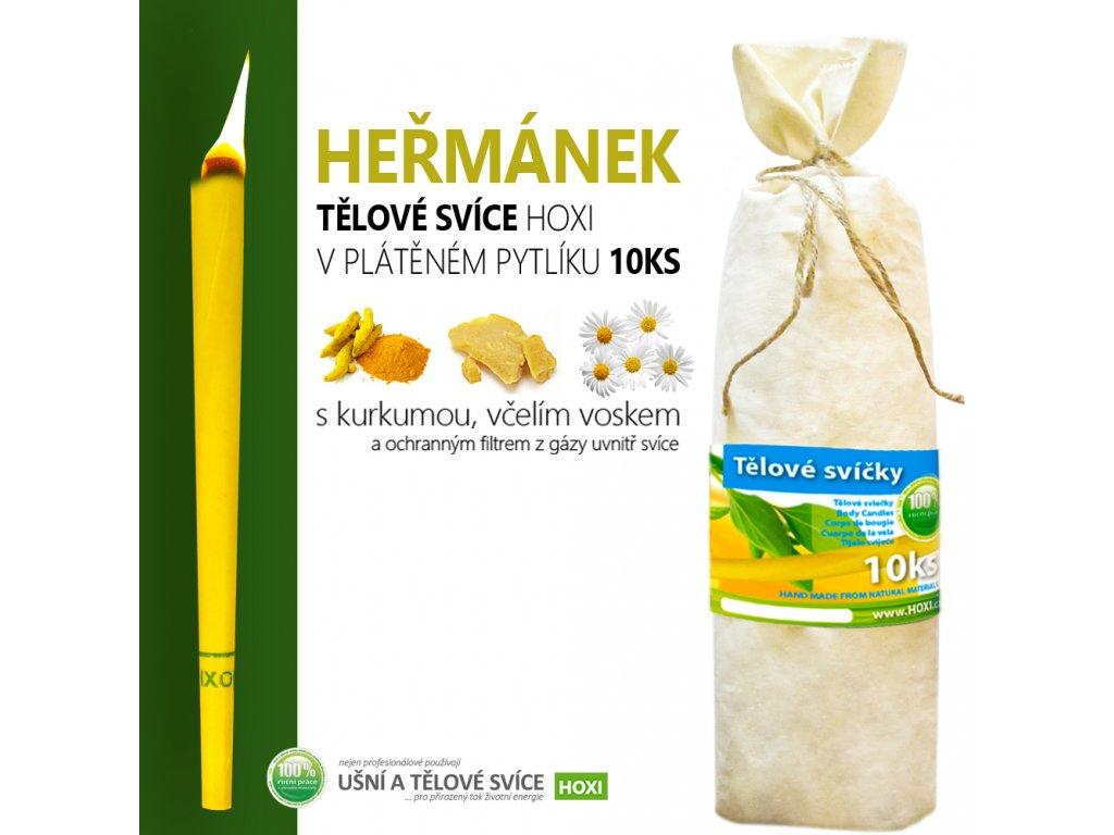 HOXI telove svice HERMANEK v platenem pytliku 10ks 002