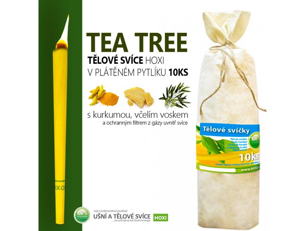 HOXI telove svice TEA TREE CAJOVNIK v platenem pytliku 10ks 002