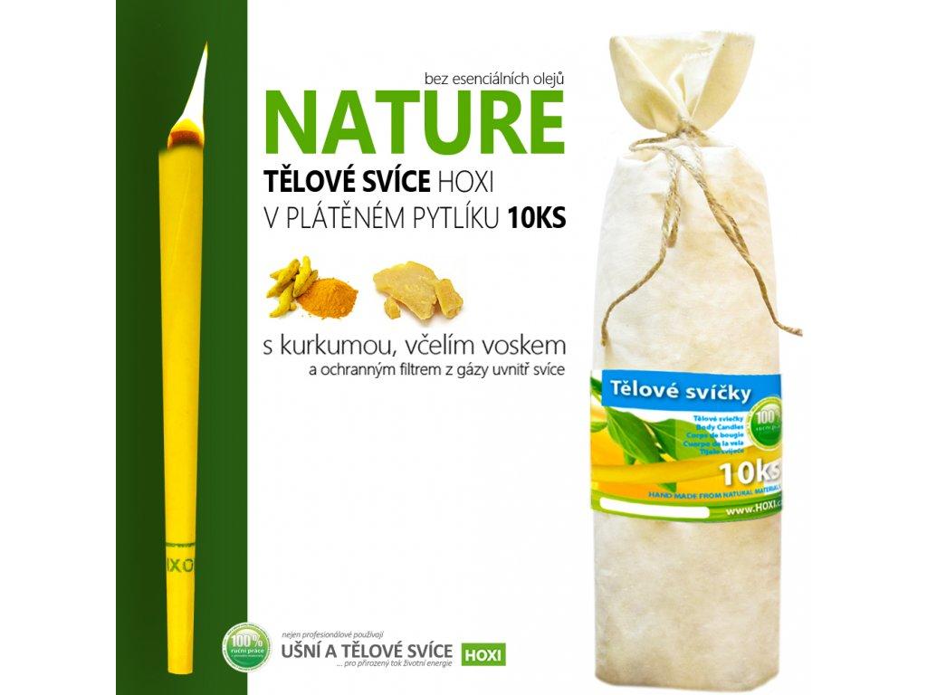 HOXI telove svice NATURE bez esencialnich oleju v platenem pytliku 10ks 002