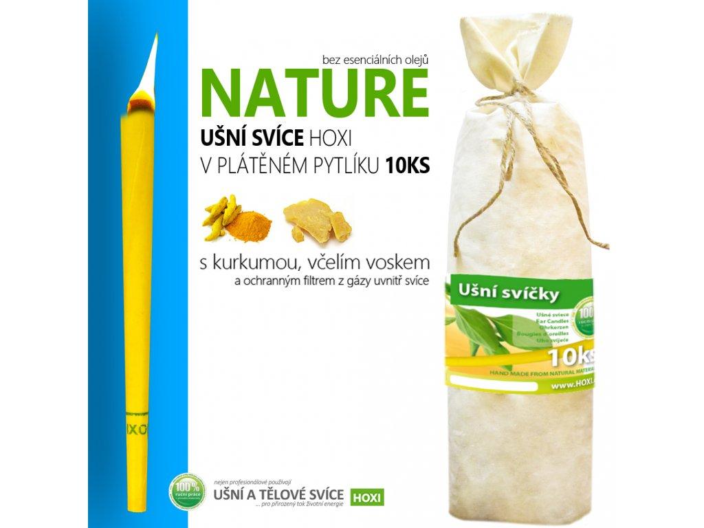 HOXI usni svice NATURE bez esencialnich oleju v platenem pytliku 10ks 002
