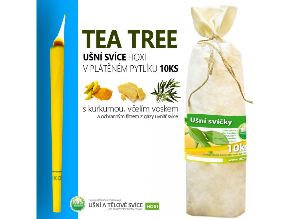 HOXI usni svice TEA TREE v platenem pytliku 10ks 002