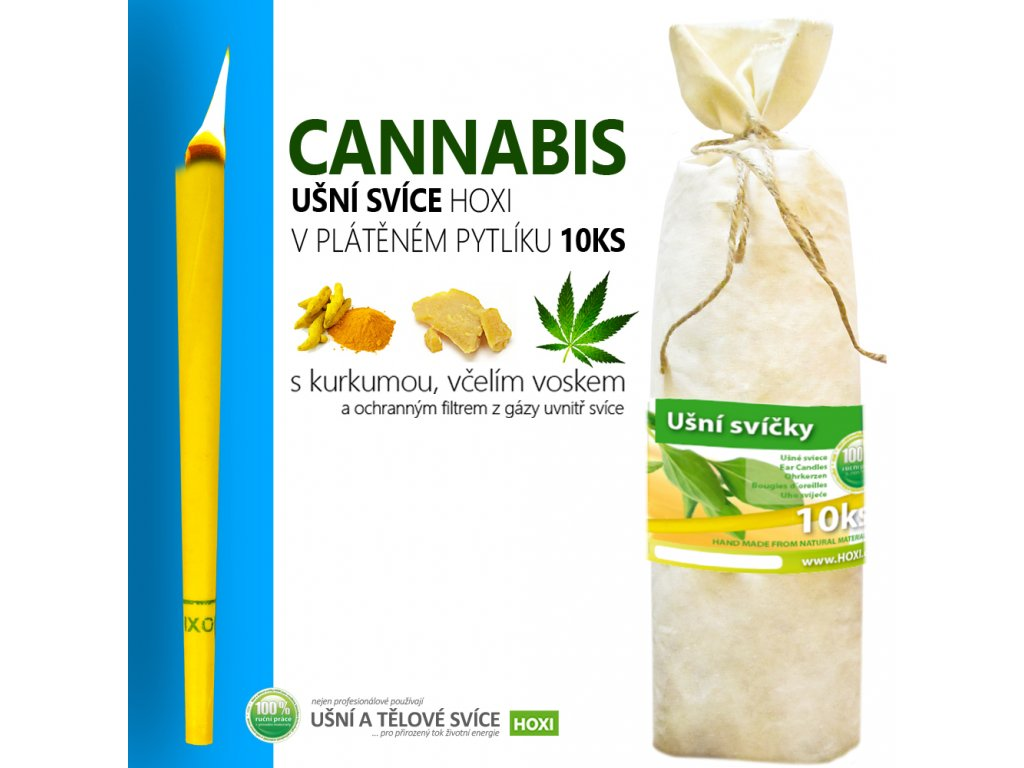 HOXI usni svice CANNABIS v platenem pytliku 10ks 002