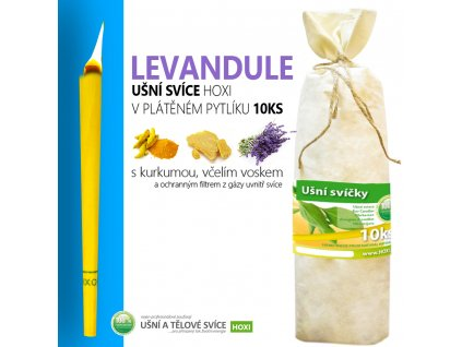 HOXI usni svice LEVANDULE v platenem pytliku 10ks 002
