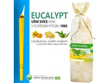 HOXI usni svice EUCALYPTUS v platenem pytliku 10ks 002