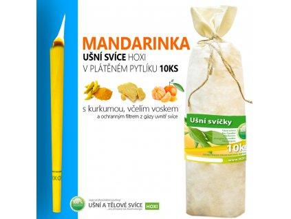 HOXI usni svice Mandarinka v platenem pytliku 10ks 002