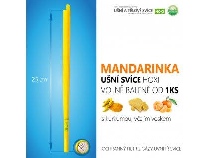 HOXI usni svice MANDARINKA volně balené 01