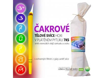 Tělové svíce HOXI 60ks MIX vlastní výběr + čakrové svíce zdarma