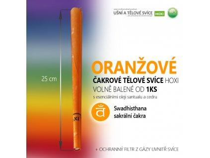 HOXI čakrove telove svice oranzova čakrová svíce 01