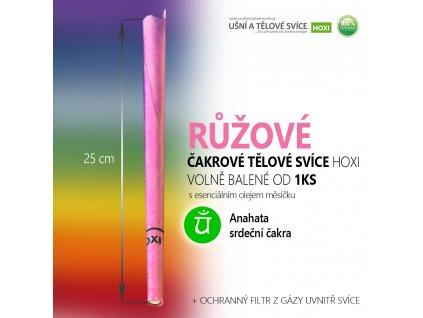 HOXI čakrove telove svice rôžová čakrová tľlová svíce 01