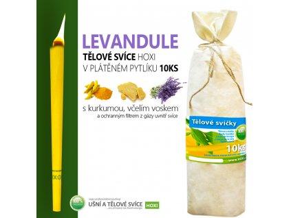 HOXI telove svice LEVANDULE v platenem pytliku 10ks 002