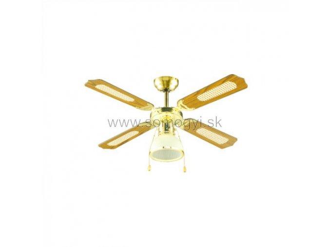 Stropní ventilátor, s lampou, 105 cm, 4 lopaty