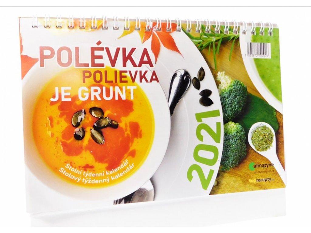 Kalendář stolní Polévka je grunt 2021 8595672700096 2