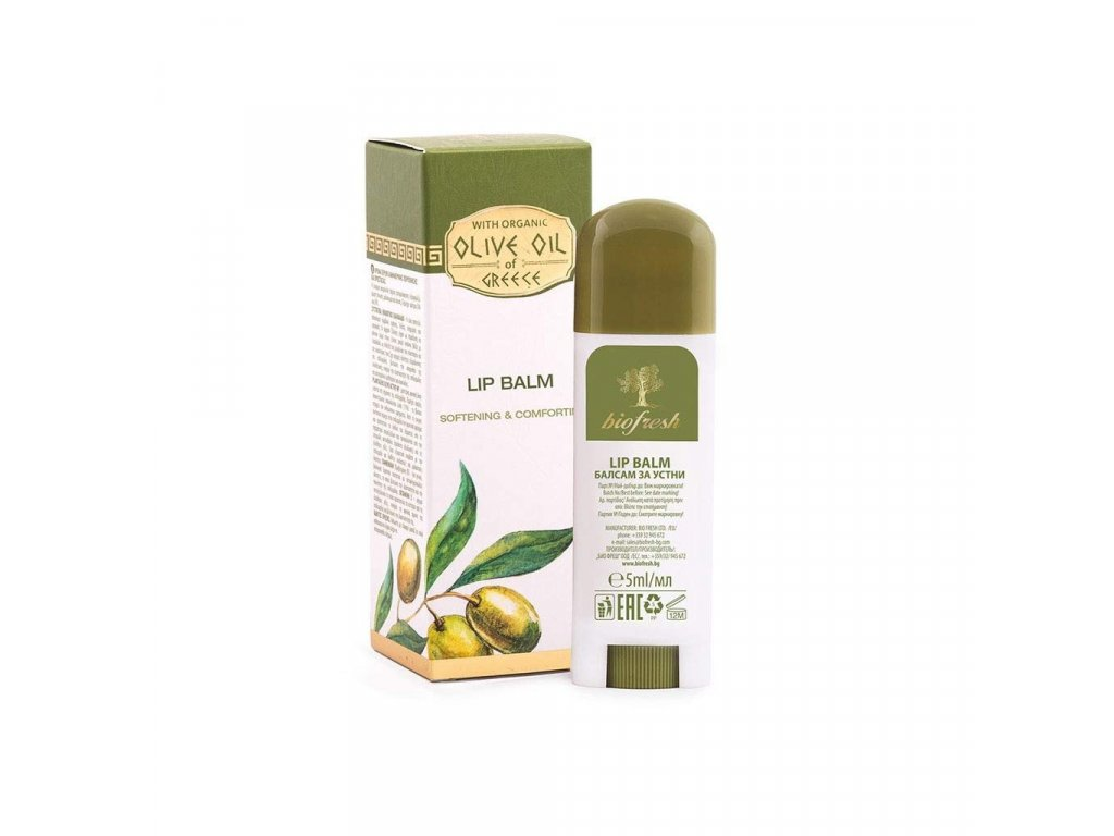 Balzám na rty s olivovým olejem a bambuckým máslem 5 ml
