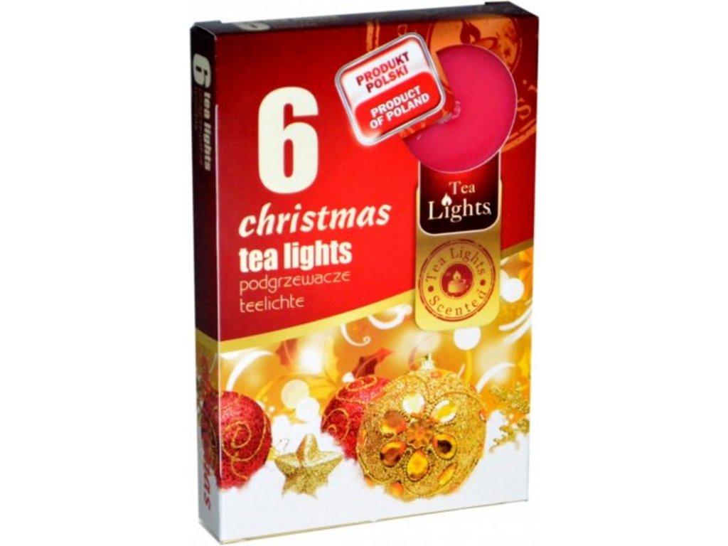 čajové vonné svíčky 6 ks christmas