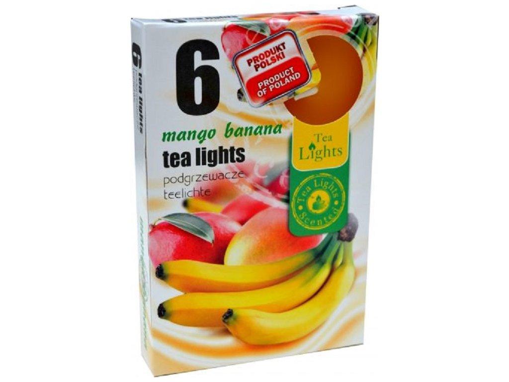 Čajové vonné svíčky 6 ks Mango Banana