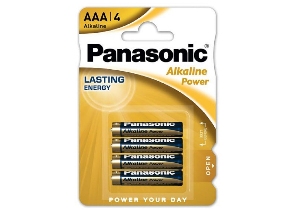 BATERIE PANASONIC ALKALINE POWER AAA, 4 KS