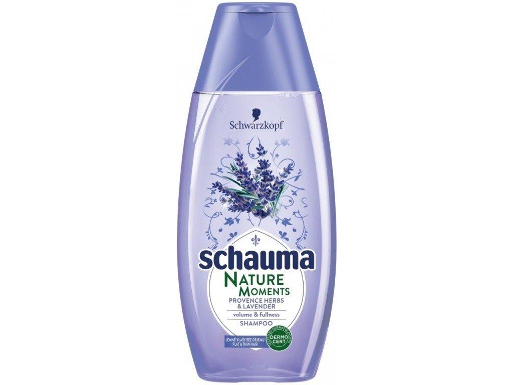 Schauma Nature Moments Provensálské byliny a levandule pro objem a plnost šampon na vlasy 250 ml