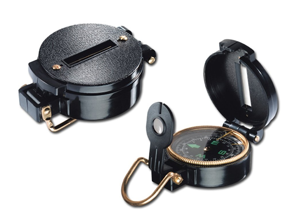 55000 03 ZIKMUND kovový kompas v plastovém plášti, Černá