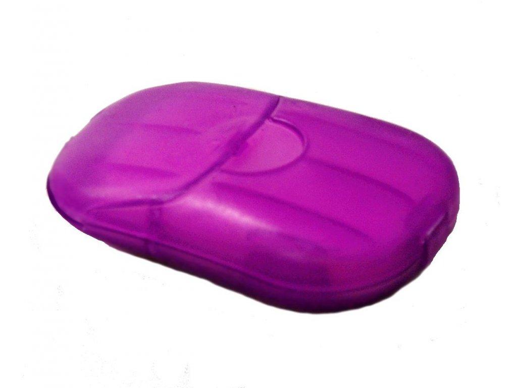 Mýdlo plátkové fialové