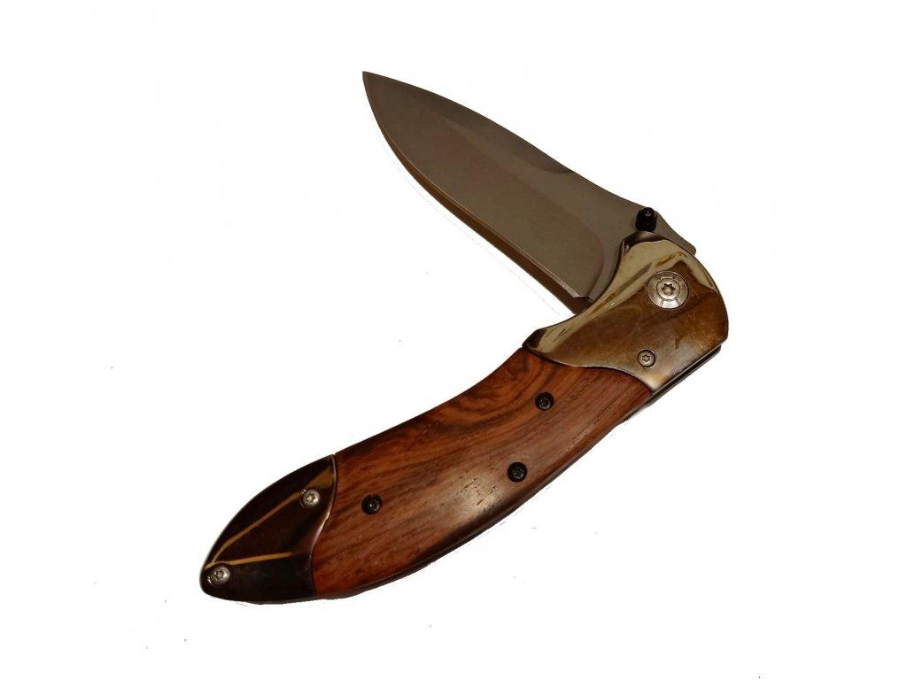 82472 CR ANDOR nerezový kapesní nůž s pojistkou, ostří 6,5 cm, BEAVER, chrom