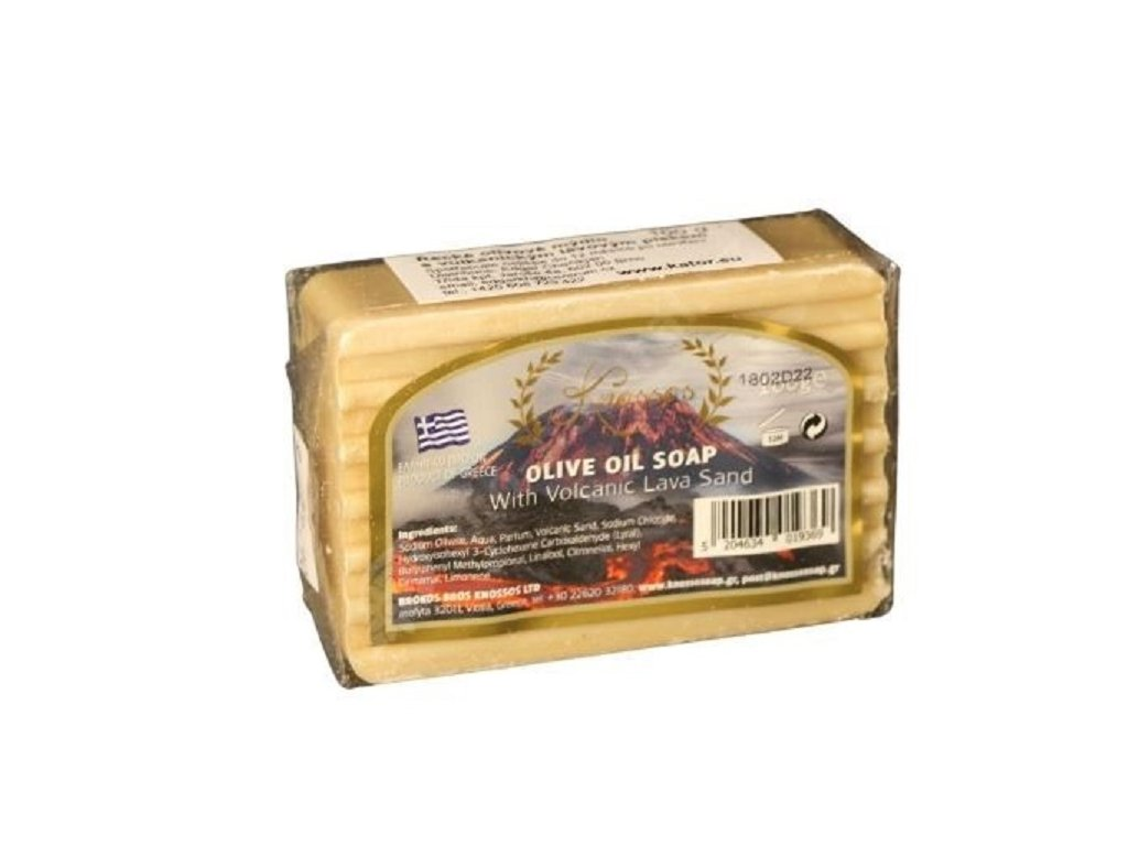 vyr 5851knossos recke olivove mydlo s vulkanickym lavovym piskem 100 g