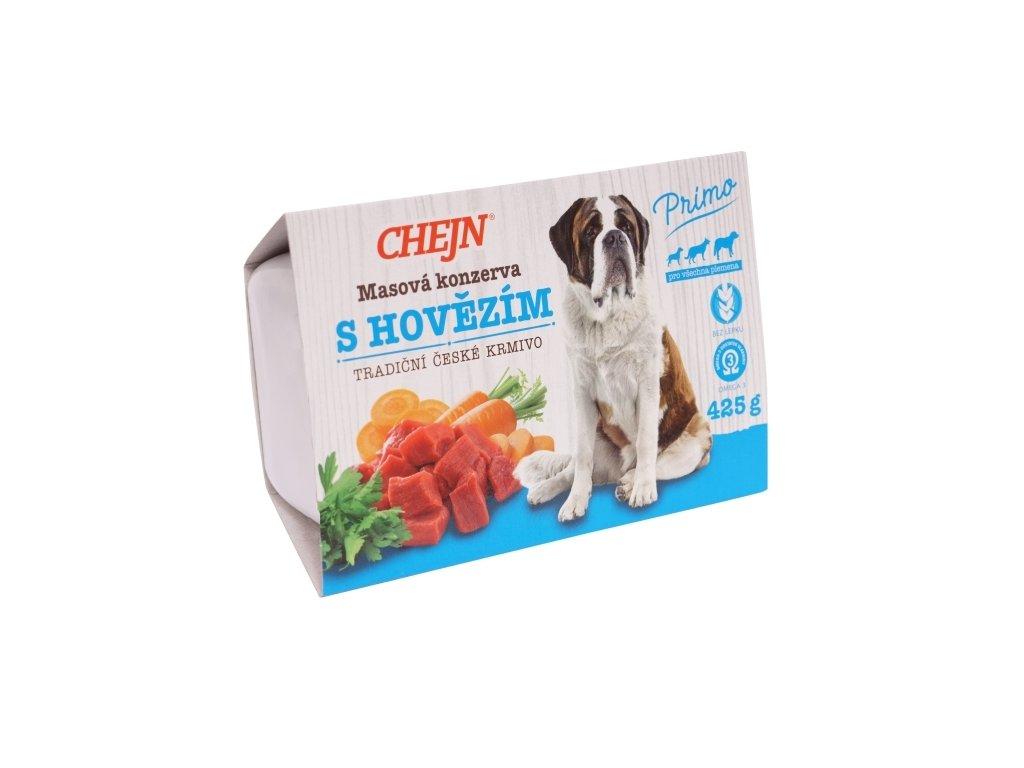 Chejn Primo vanička pro psy hovězí 425 g