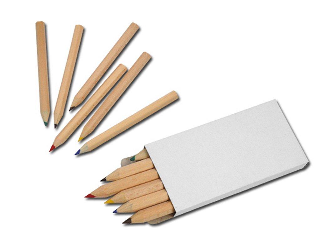 Dřevěné pastelky 6 ks