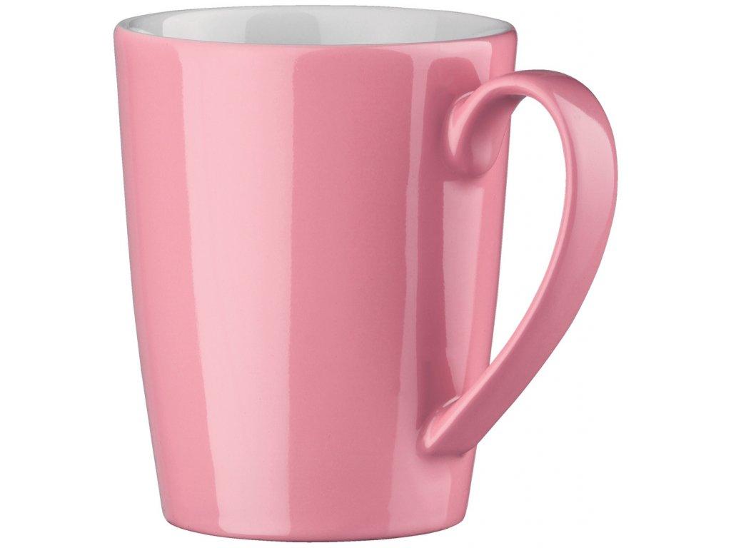 Hrnek porcelán 300 ml světle růžový