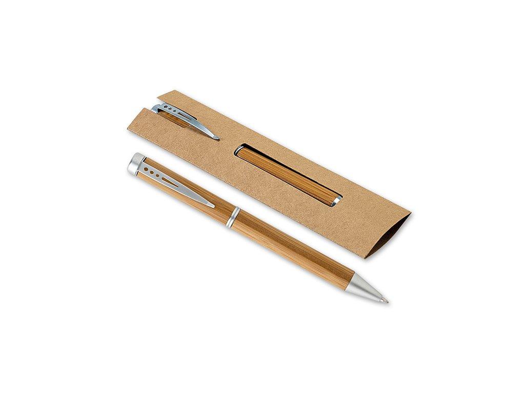 Kuličkové pero z bambusu