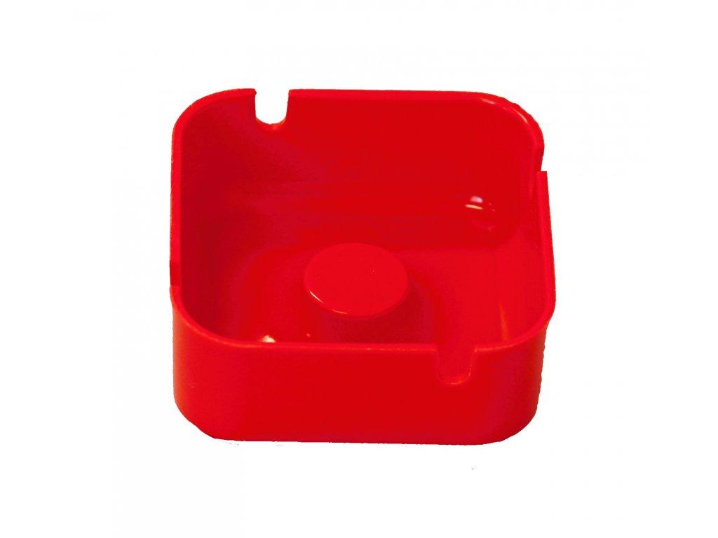 Popelník plast červený