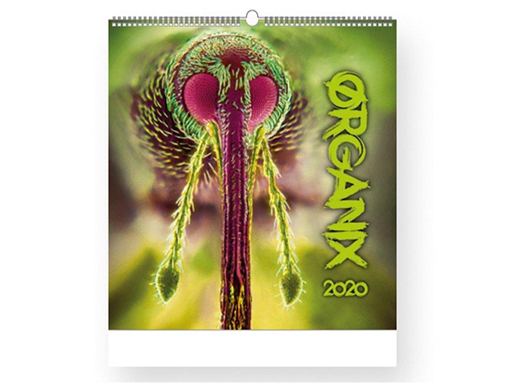 UN 045 ORGANIX 2018 nástěnný kalendář, 45x48 cm, R LINE