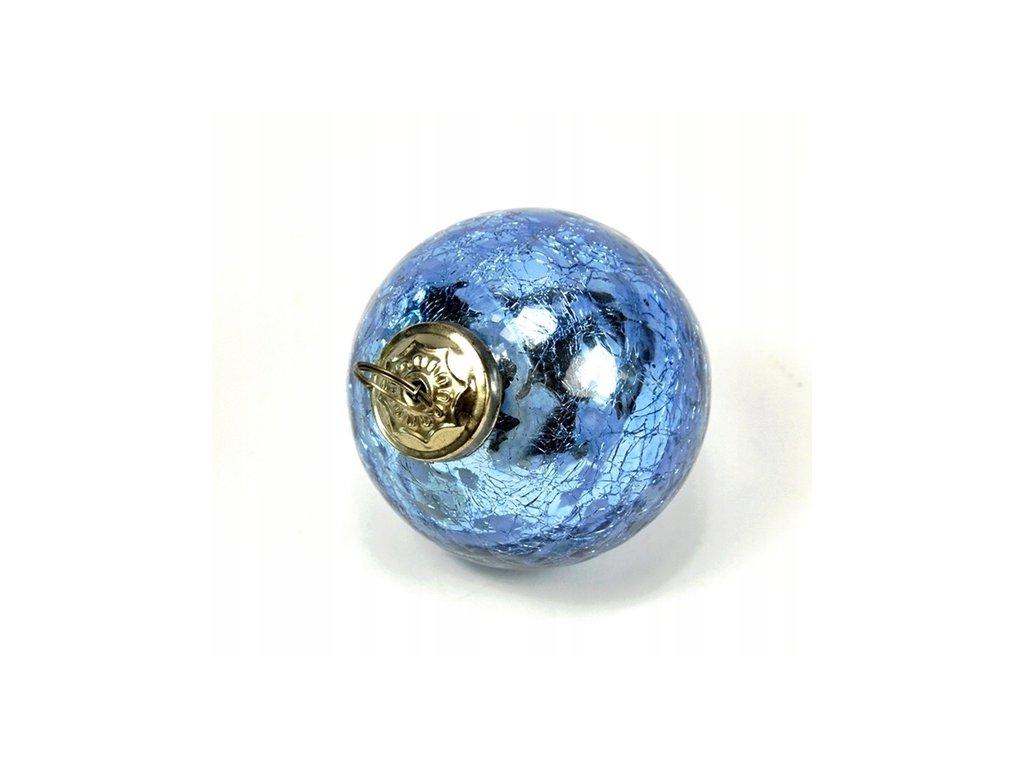 Baňka skleněná dekorativní průměr 7,5 cm