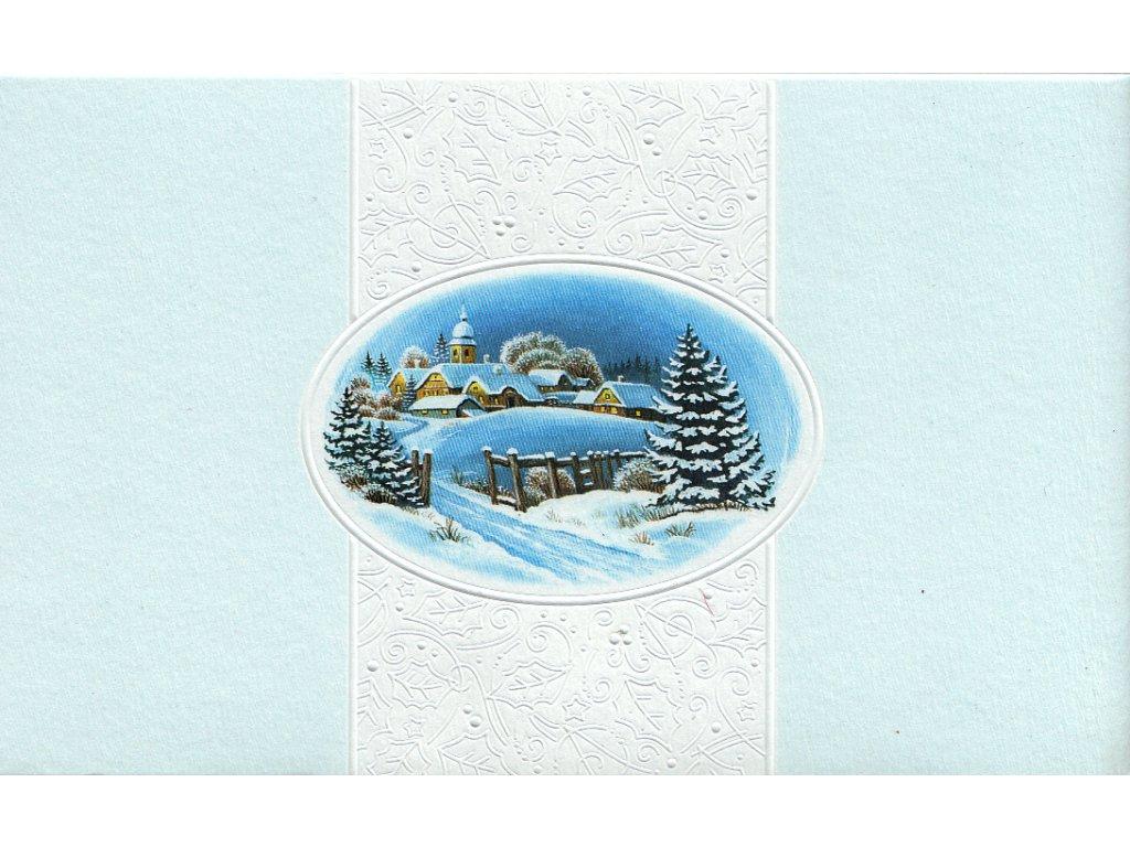 Skládací vánoční přání s obálkou 50 ks detail
