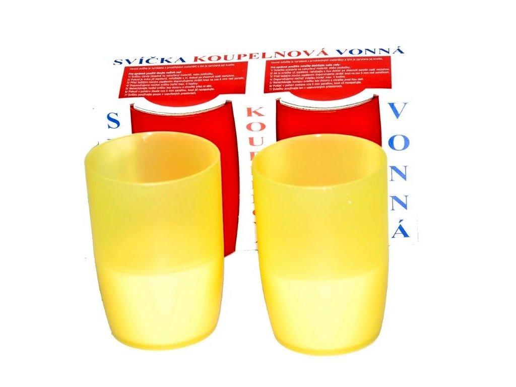 Svíčka do koupele 2 ks s vůní citronu