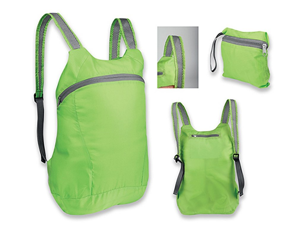 72410 22 72410 03 JUF skládací batoh, 190T RIPSTOPpolyester zelená zelený X