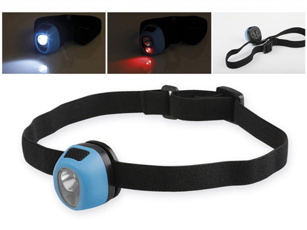 Plastová LED čelovka 2v1