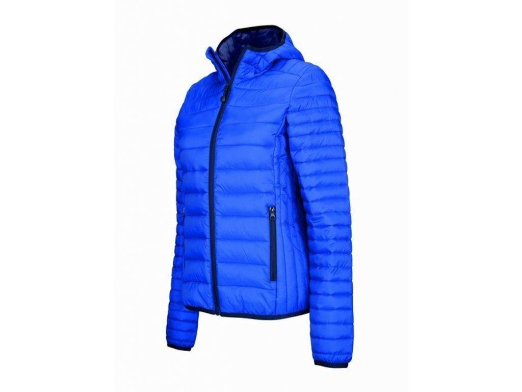 K6111 Light Royal Blue dámská zimní bunda velikost M